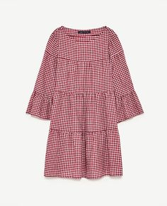 Image 8 of GINGHAM MINI DRESS from Zara