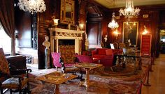 One of the 'state' rooms inside Warwick Castle