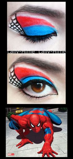 The Hereos: Spider-Man Make Up by Lally-Hime.deviantart.com