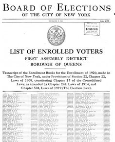A Free Book in Google Books Lists Details of all Voters in New York City for 1919 | Eastman's Online Genealogy Newsletter