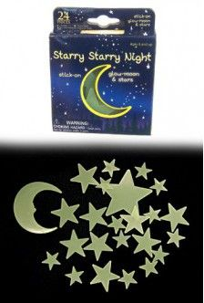 Party Favors? Starry Night 24 Glow Moons and Stars   Westminster   Westminster  035594001256
