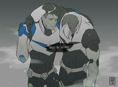 I'm crying now, 'cause Shiro is telling Lance ''it'll be OK'' even though he's the hurt one.