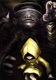 Little Nightmares, Six and the Janitor, Adrian Art on ArtStation at https://www.artstation.com/artwork/ZZmNG