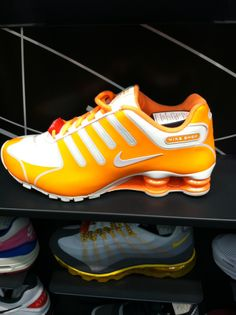 online store b264f fecdd ... Bright Orange Nike Shox from Finish Line.