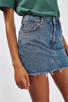 MOTO Denim Pelmet skirt - Skirts - Clothing - Topshop