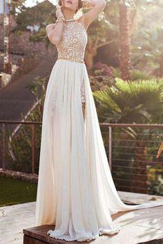 backless halter wedding dress