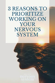 Here are three reasons why you should make it a priority to work on your nervous system right now. Holistic Wellness, Wellness Tips, Health And Wellness, Autonomic Nervous System, Fight Or Flight, What The World, Prioritize, Alternative Health, Mindful Living