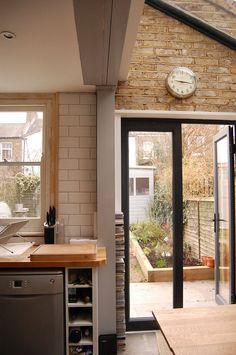 Green Tea Architects   Side Return Extension, Brockley. exposed brick, simple, exposed steel.