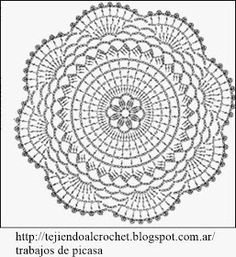 World crochet: Motive 12 Crochet Doily Diagram, Crochet Mandala Pattern, Crochet Circles, Crochet Stitches Patterns, Crochet Squares, Thread Crochet, Crochet Granny, Crochet Carpet, Crochet Home