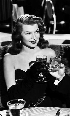 Rita Hayworth on the set of Gilda