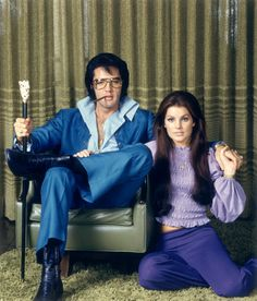 Elvis & Priscilla - there is so much to love about this photo