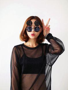 Fun Faced Flip-Up Sunglasses!