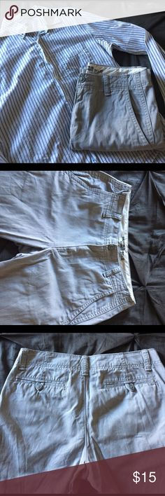 """Old Navy Grey """"Broken-in Khakis"""" Old Navy Light Grey Chinos. """"Broken-in khaki"""" fit. 31x32 Perfect for pairing with a great Button Down or sweater for a casual day at the office or out on the town. Worn only a handful of times. EUC Old Navy Pants Chinos & Khakis"""