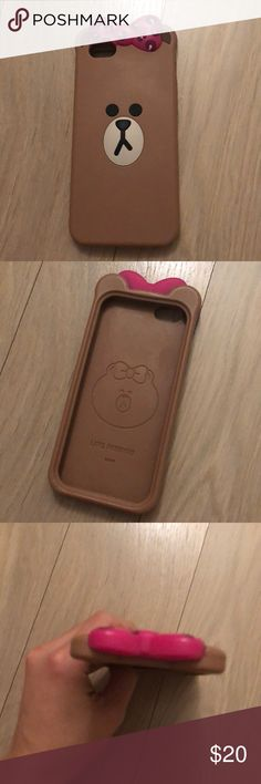 Line Friends rubber phone case Excellent condition iPhone 6/6s phone case. Rubber with good protection. No stains, tears or marks. Super cute! Accessories Phone Cases