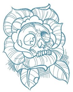 Grand Sewing Embroidery Designs At Home Ideas. Beauteous Finished Sewing Embroidery Designs At Home Ideas. Tattoo Design Drawings, Tattoo Sketches, Art Drawings, Tattoo Designs, Skull Tattoos, Body Art Tattoos, Maori Tattoos, Embroidery Designs, Skull Coloring Pages