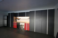 Two-tone Powder-coated Cabinetry