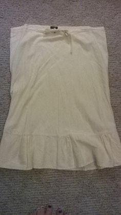 JCrew Pale Yellow Over the Knee Linen Skirt Ends tonight!!!!!