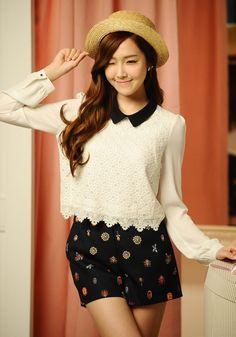 Jessica Jung Sooyeon of Girls' Generation for Soup BTS Jessica Jung, Jessica & Krystal, Krystal Jung, Sooyoung, Kim Hyoyeon, Yoona, Snsd Fashion, Asian Fashion, Fashion Clothes
