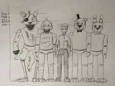 The Heights Of The Animatronics