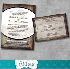 WinnerDogFinds: Rustic Printable Wedding Invitation and Reply Card