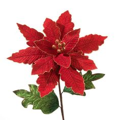 """The Jolly Christmas Shop - 22.5"""" Large Red Poinsettia Spray, $8.99 (http://www.thejollychristmasshop.com/22-5-large-red-poinsettia-spray/?page_context=category"""
