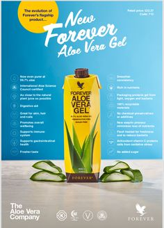 Forever's new aloe drinking gel now has 99.7% aloe with no preservatives!  If you'd like to know more get in touch with me.