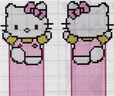 the Kitty part . Cross Stitch Boards, Cross Stitch Bookmarks, Cross Stitch Baby, Cross Stitch Patterns, Plastic Canvas Coasters, Plastic Canvas Ornaments, Plastic Canvas Patterns, Hello Kitty, Hama Beads Patterns