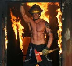 Wow...just when I thought Pintrest coudn't get better.....Hot Fireman with TATOOOS!!!!!!