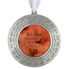 Gladiolus Blooms - Orange Ornament - floral gifts flower flowers gift ideas
