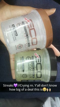 Yesterday I got two small jars of eco styler gels... when I tell I screamed...I did..they also sell pocket/bag sized one... Pintrest: @baby.girldee . My snap : dejakorean