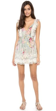 Can't wait for the beach stroll --- Zimmermann Sundance Embroidered Playsuit