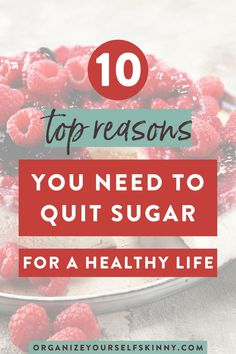 10 Top Reasons You Need To Quit Sugar For A Healthy Life | Healthy Living - Wondering why it's important to kick your sugar habit?Here are 10 reasons to motivate yourself to start reducing your sugar intake for your overall health and wellbeing. Organize Yourself Skinny | Skinny Tips | How To Lose Weight | Healthy Living | Clean Eating Tips | Healthy Eating | Healthy Habits Healthy Eating Grocery List, Healthy Freezer Meals, Healthy Eating Habits, Healthy Food, Healthy Living, Healthy Recipes, Healthy Lifestyle Changes, Healthy Lifestyle Motivation, Low Calorie Dinners