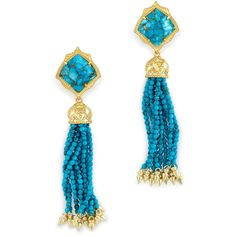 Kendra Scott: Misha Statement Earrings In Bronze Veined Turquoise