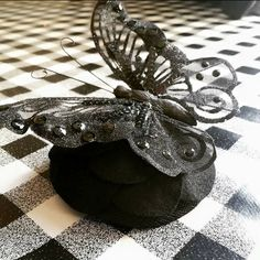 Beautiful large black butterfly fascinator, perfect for any special occasion ♡ Largest Butterfly, Large Black, Fascinator, Badass, Special Occasion, My Etsy Shop, Check, Beautiful, Headdress