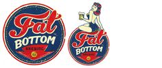 vintage looking fat bottom brewing logo. created for a beer company based in nashville, tn | by anderson design group