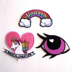 Unicorn Patch Pony Eye Patch Rainbow Patch door FatallyFeminine