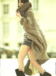 LOVE this oversized sweater with shorts and slouchy boots