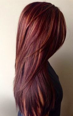 HOW-TO: Rich Red Hair Color with Golden Caramel Highlights