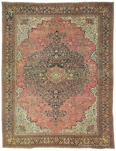 FERAHAN SAROUK - West Central Persian 10ft 3in x 13ft 4in Circa 1850
