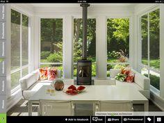 Modern Home sunroom Design Ideas, Pictures, Remodel and Decor Small Sunroom, Sunroom Cost, Sunroom Kitchen, Sunroom Dining, Veranda Design, Four Seasons Room, Modern Porch, Modern Room, Sunroom Decorating