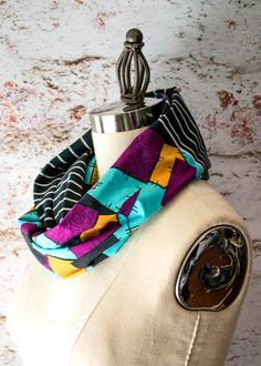 Jack and Sally Tux and Dress Print Infinity Scarf by StinkeeCheese #nightmarebeforechristmas #jackandsally, #timburton #thisishalloween