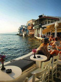 Little Venice in Mykonos island ~ Greece....we had the most romantic dinner here......loooove!