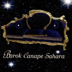 Barok Canape Arabica Sahara Gold Bleu Velvet | Le Chique Wonen