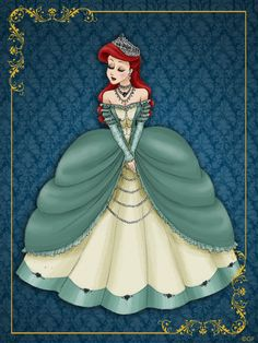 Queen Ariel - Disney Queen designer collection by GFantasy92.deviantart.com on @deviantART - Sixth in a series