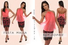 A sweet and elegant corai top, with a short lace skirt are my favourite clothes for summer :D