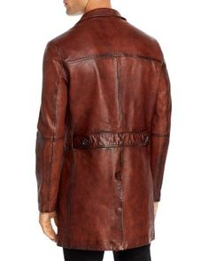 John Varvatos Collection x Led Zeppelin Sheepskin Regular Fit Coat Men - Bloomingdale's John Varvatos, Led Zeppelin, Espresso, Leather Jacket, Shirt Dress, Coat, Fitness, Jackets, Shirts