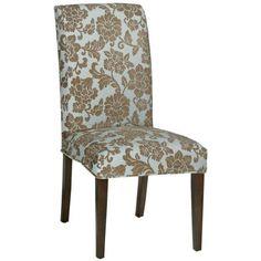 "Parsons Side Chair Classic Slipcover - 40.5""Hx20.5""W, Quiltd Powder Blu"