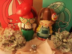 My bibi button and darcie momiji dolls.