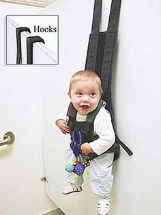 Now you CAN try on clothes. but i prefer not to take my baby when i try on clothes :) The Babys, Ideas Para Inventos, Baby Holder, Clever Inventions, Crazy Inventions, Baby Hangers, Baby Storage, Everything Baby, Try On