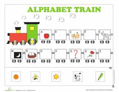 Worksheets: Alphabet Train